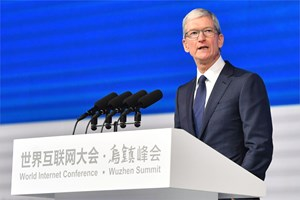 Tim Cook auf Besuch in China.