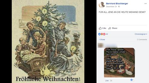 Standard Weihnachtsgrüße.Fpö Gemeinderat Schickt Weihnachtsgrüße Mit Nazi Propaganda Fpö