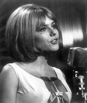France Gall beim Song Contest 1965 ...