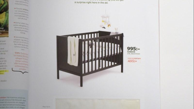 Ikea Inserat Mit Schwangerschaftstest Kinderbett Zum