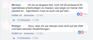 Einige der Facebook-Postings.