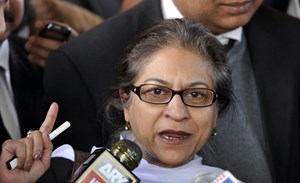 Asma Jahangir starb am Sonntag in Lahore.