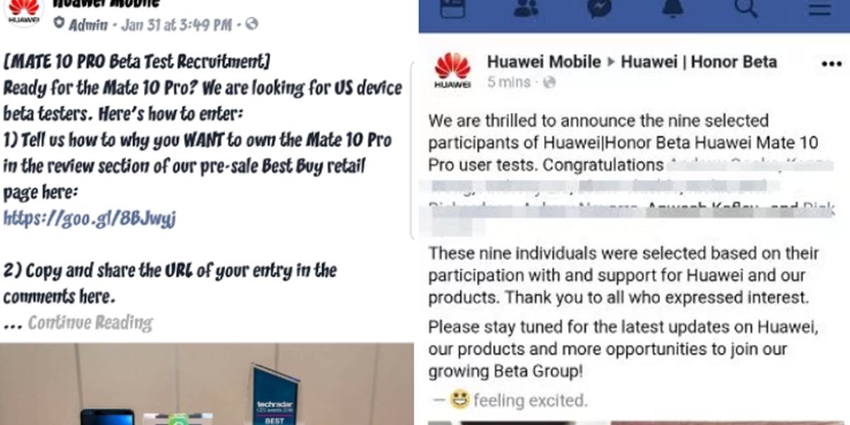 Huawei bittet vor Start des Mate 10 Pro um Fake-Rezensionen