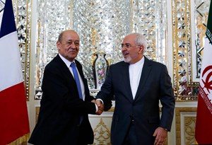Jean-Yves Le Drian zu Besuch bei Mohammad Javad Zarif
