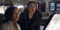 "Taylor Russell, Mina Sundwall in ""Lost in Space"""