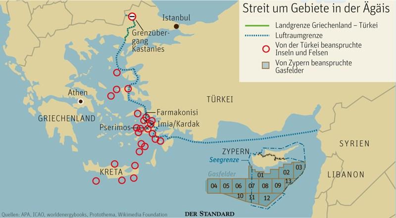 Türkische ägäis Karte.Erdoğan Nimmt Die Griechen Ins Visier Türkei Derstandard At
