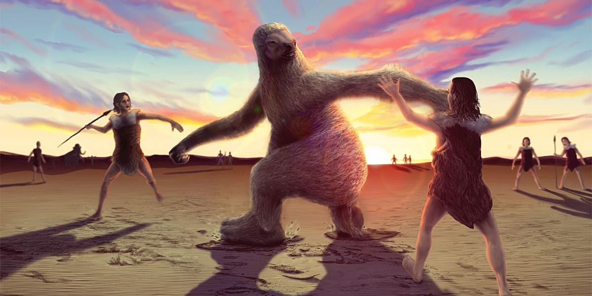 Fußspuren belegen steinzeitliche Jagd auf Riesenfaultiere