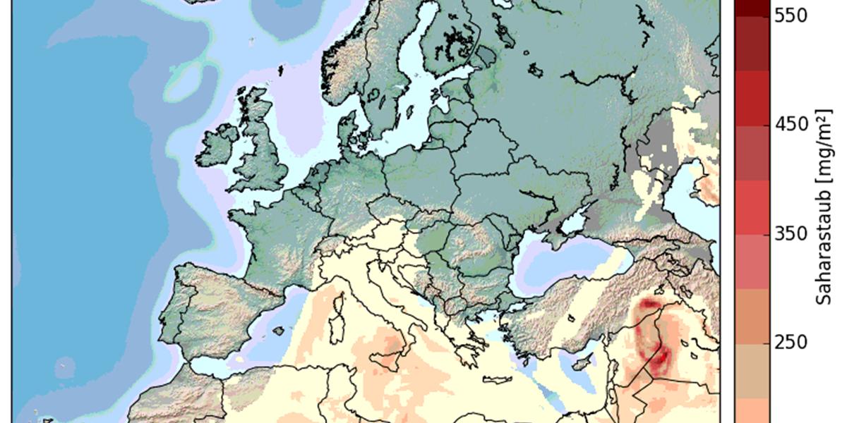 Ungewöhnliche Wetterlage bringt wieder Saharastaub nach Europa