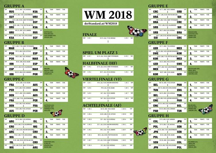 Spielplan Als Pdf Zum Download Fussball Wm2018 Derstandard De