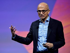 Microsoft-Chef Satya Nadella kauft Open Source ein.