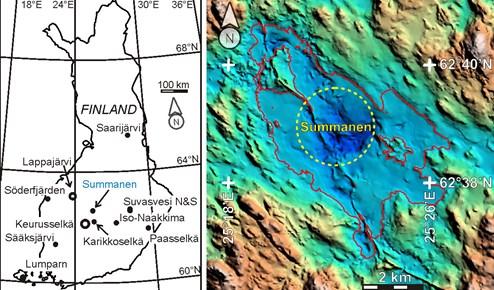Großer Einschlagskrater eines Meteoriten in Finnland entdeckt