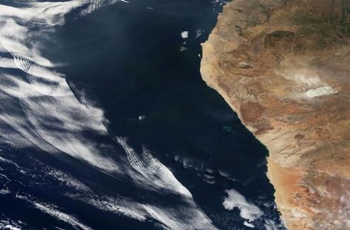 Mysteriöses Wolkenphänomen vor Afrikas Küste