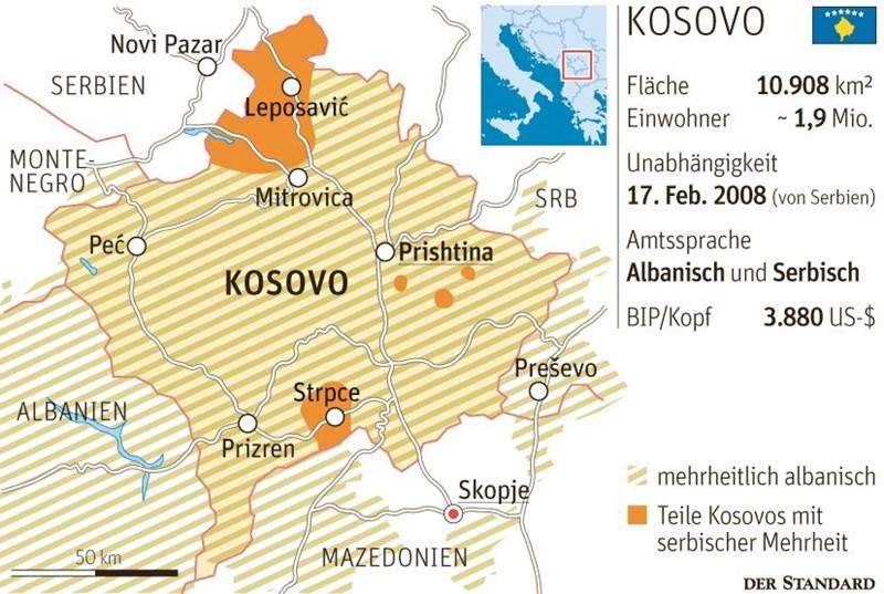 Jugoslawien Karte 2018.Serbien Und Kosovo Auf Dem Weg Zum Letzten Abkommen Kosovo