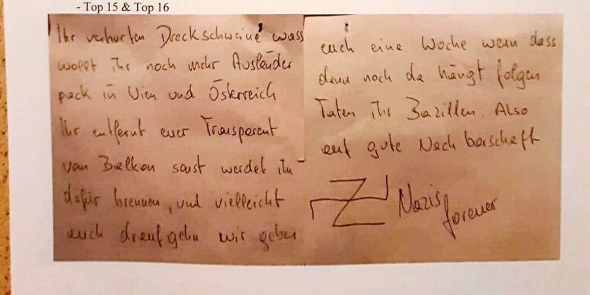 Braune Post Anonymes Nazi Schreiben Schockiert Hausbewohner In Wien