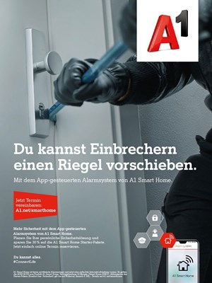 Kampagne für A1 Smart Home.
