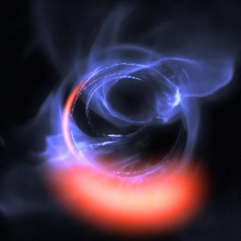 Deutliche Hinweise auf riesiges Schwarzes Loch im Milchstraßenzentrum