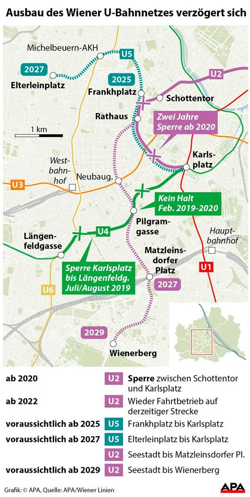 Bau Von Wiener U2u5 Verzögert Sich Um Bis Zu Ein Jahr Wien