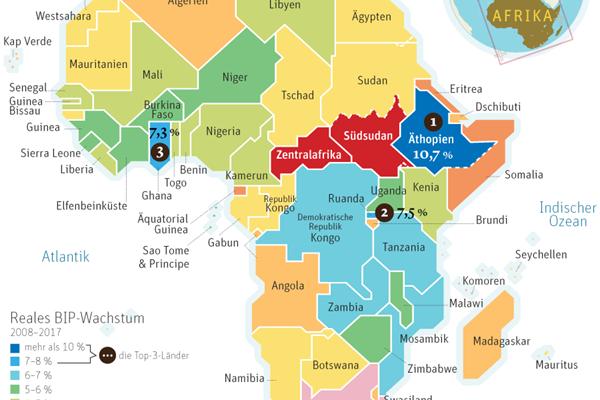 Afrika Karte Staaten.Afrika Mausert Sich Von Vielen Unbemerkt Außenwirtschaft
