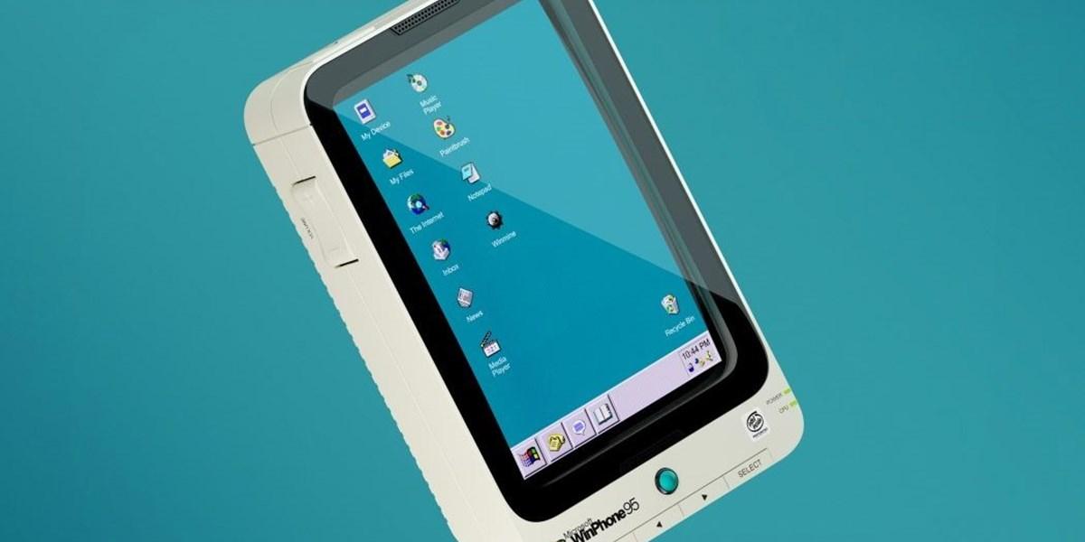 Designer zeigt, wie ein Windows 95-Smartphone ausgesehen hätte