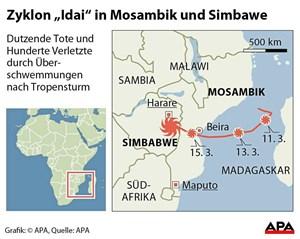 Rotes Kreuz: Nach Sturm bis zu 400.000 Menschen in Mosambik obdachlos