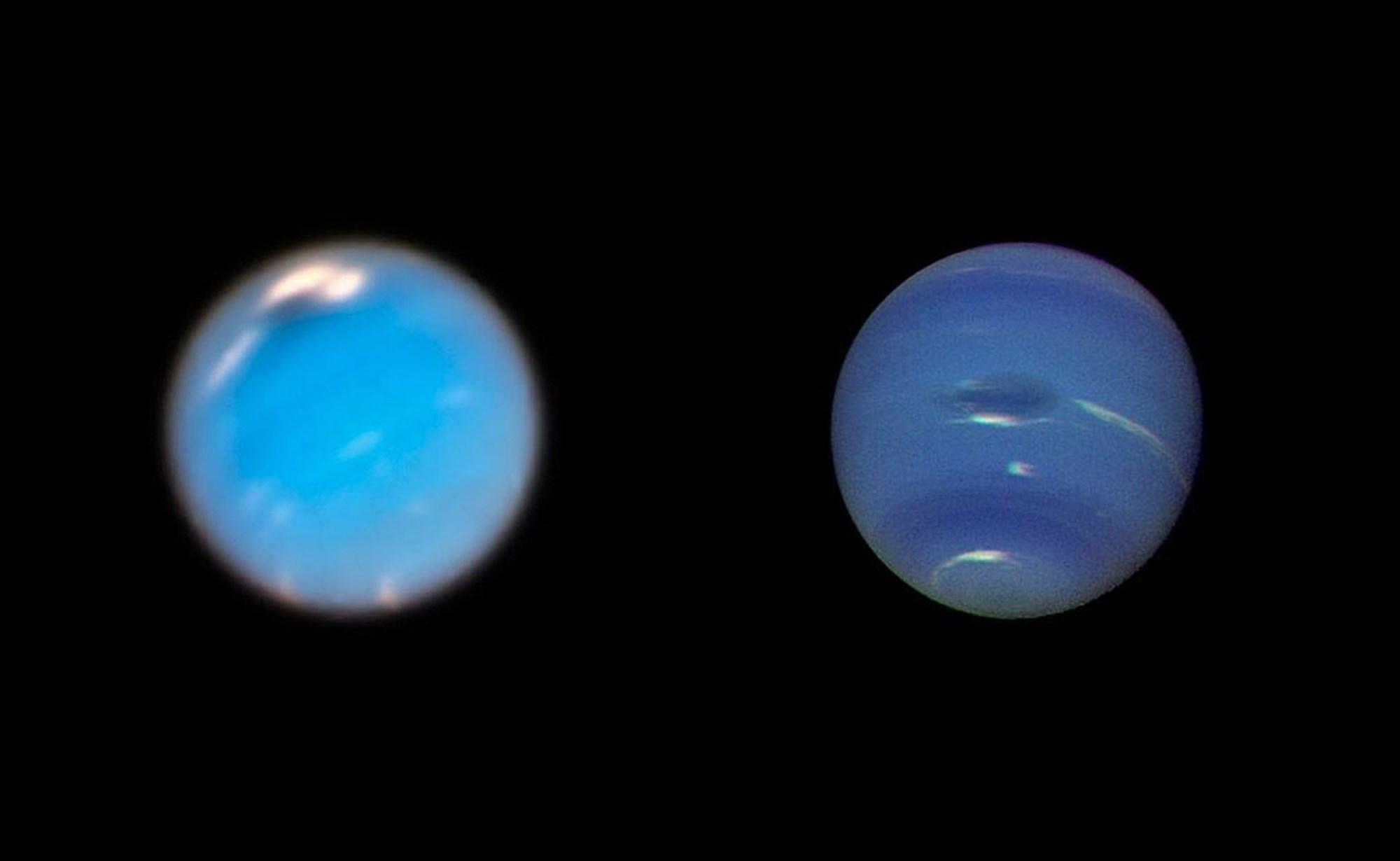 Hubble fängt Geburt eines gewaltigen Sturms auf dem Neptun ein – derStandard.at
