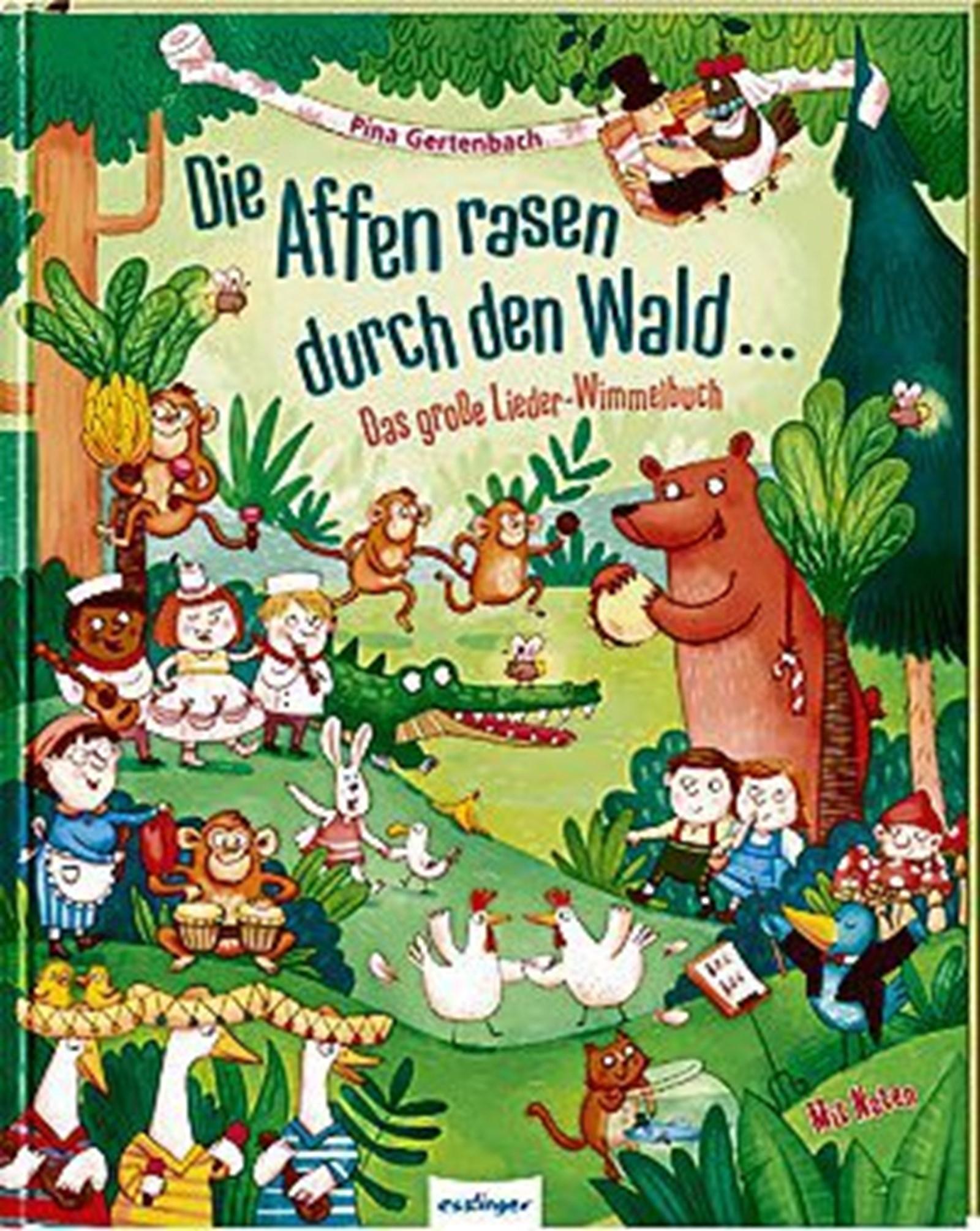 Wilde Affen: Lieder- und Wimmelbuch in einem