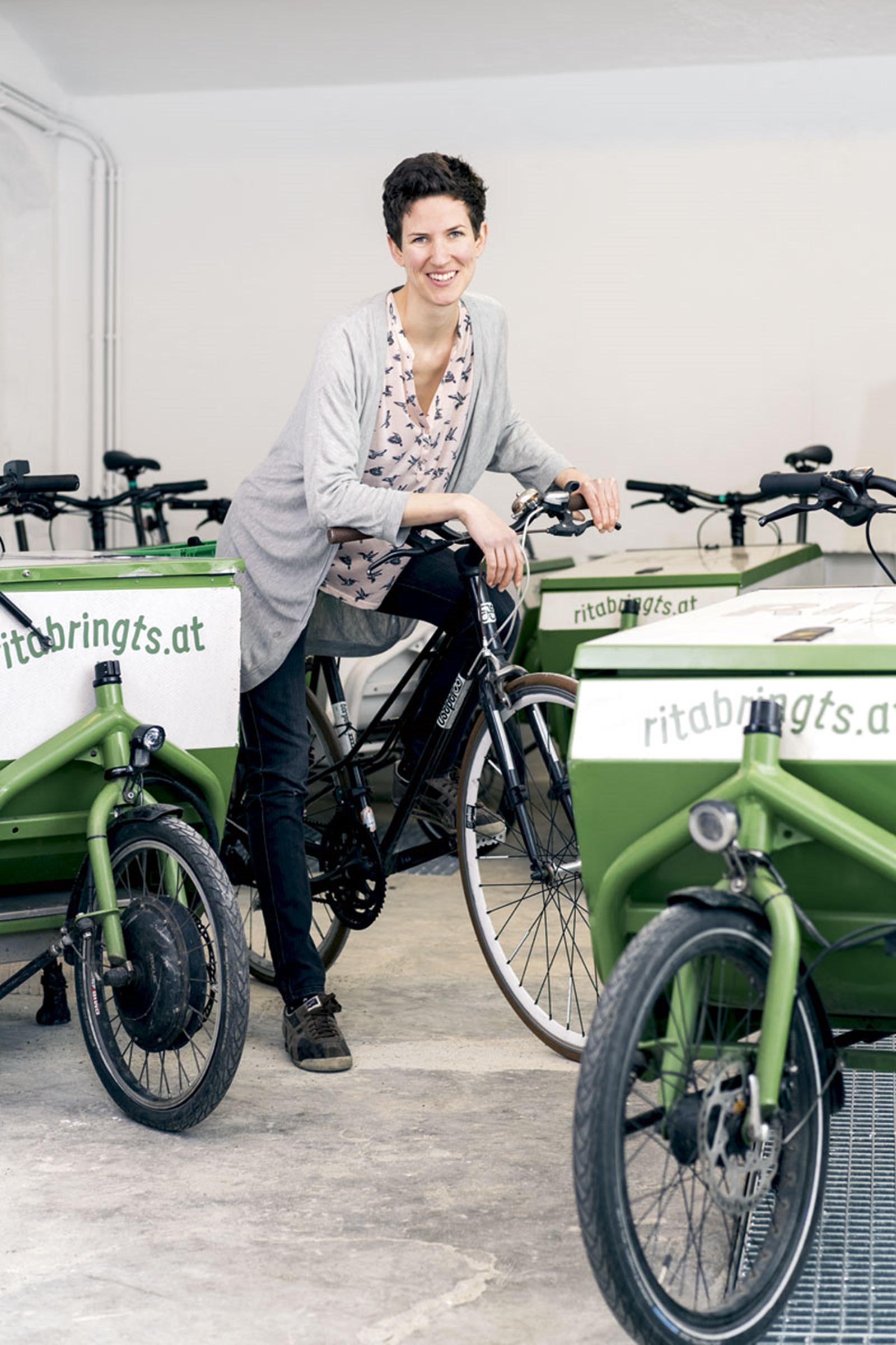 """Rita Huber: """"Ärgere mich über Radfahrer mit Schlapfen"""""""