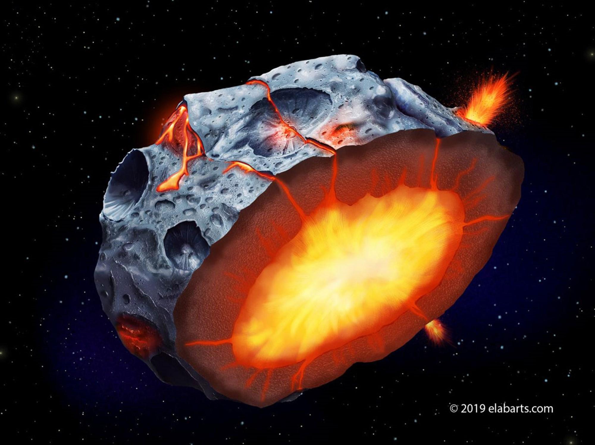Vulkanausbrüche auf Eisenasteroiden vermutet – derStandard.at