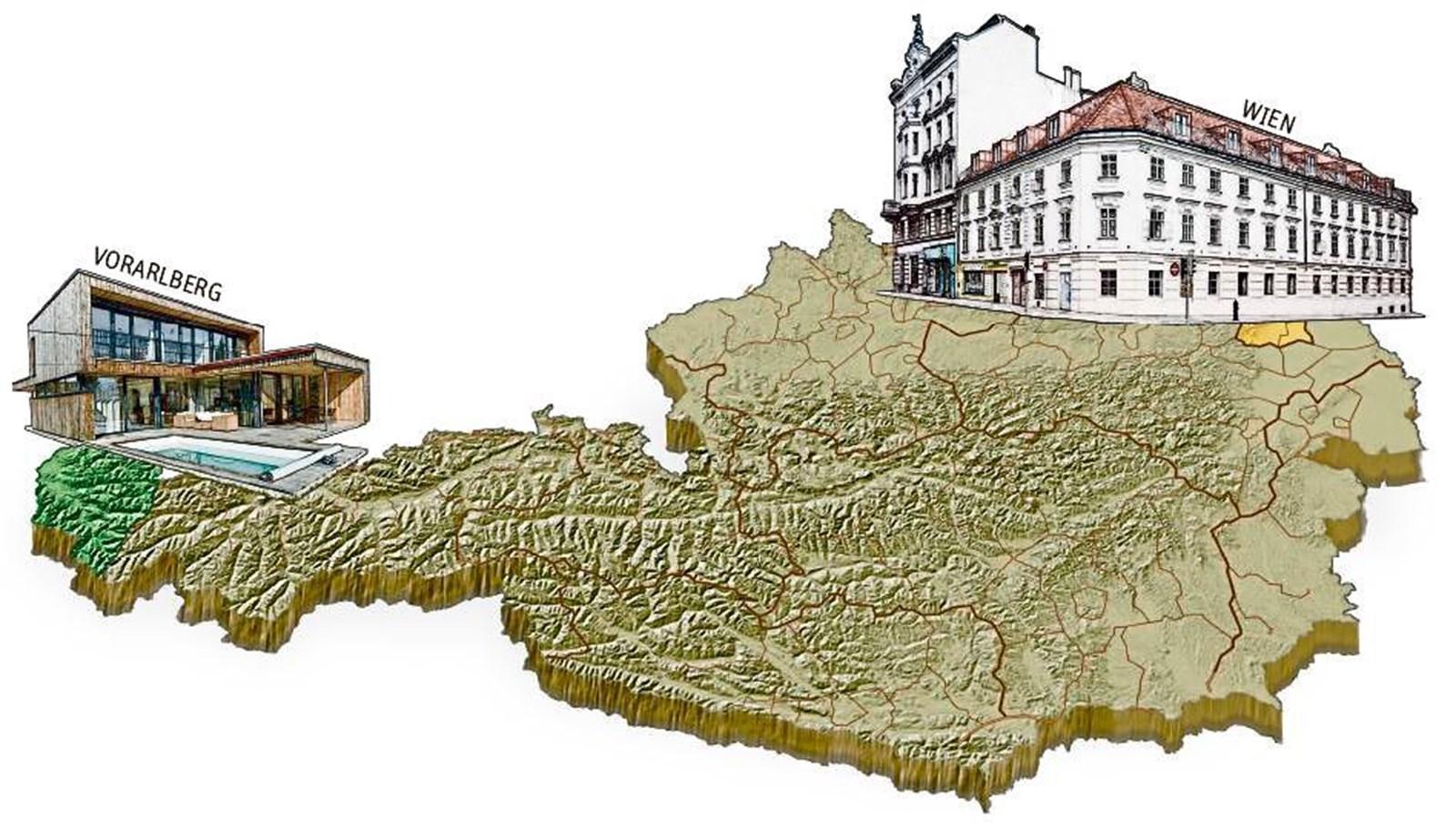 Leistbares Wohnen: Was Wien und Vorarlberg anders machen
