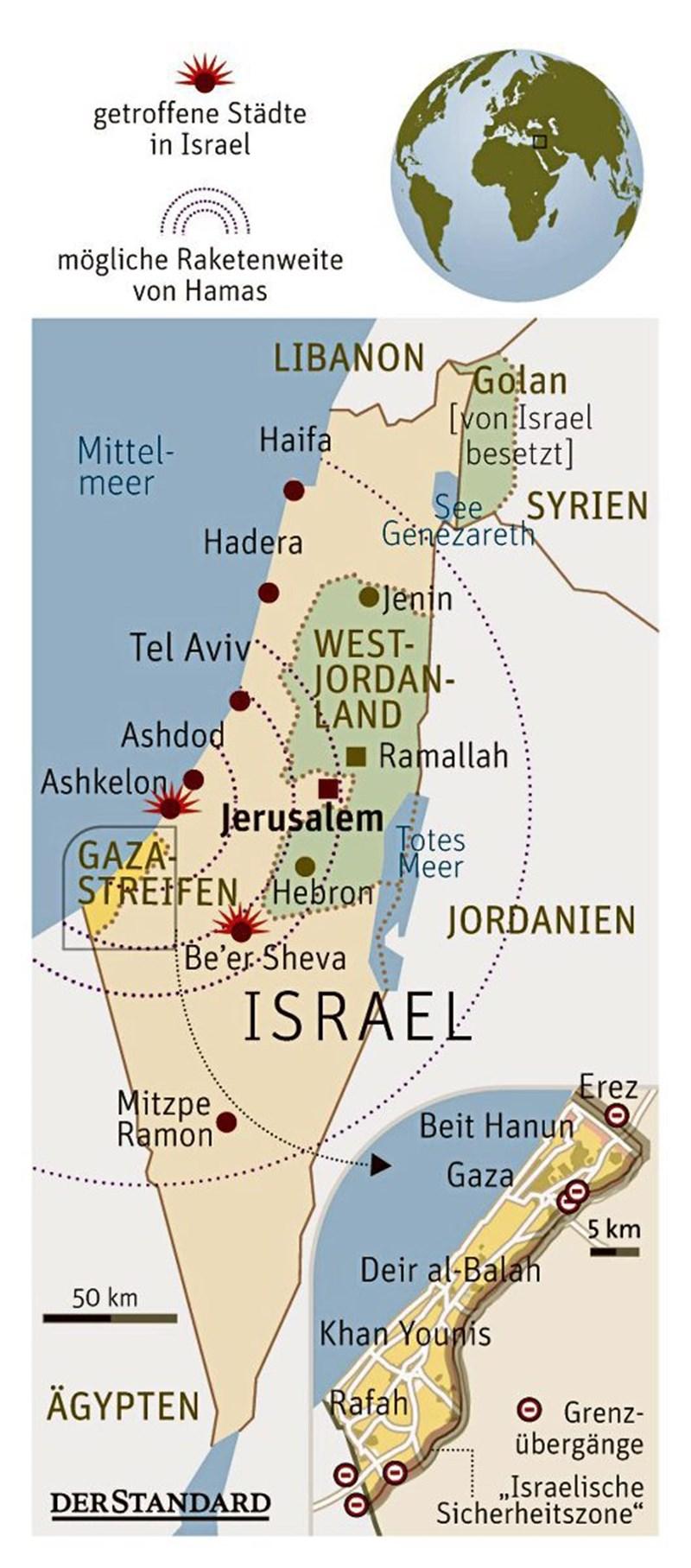 Palästinenser verkünden Waffenstillstand mit Israel - Nahost ...