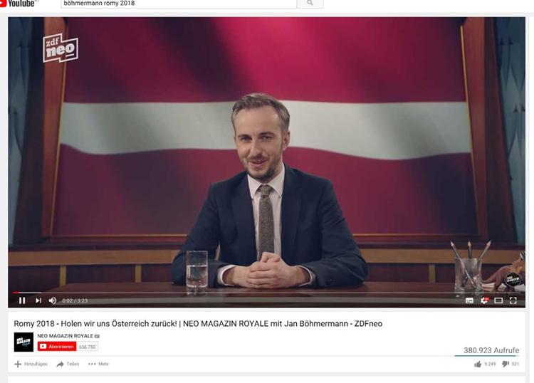 Bohmermann Machte Schon Bei Romy Verleihung 2018 Anspielungen Auf
