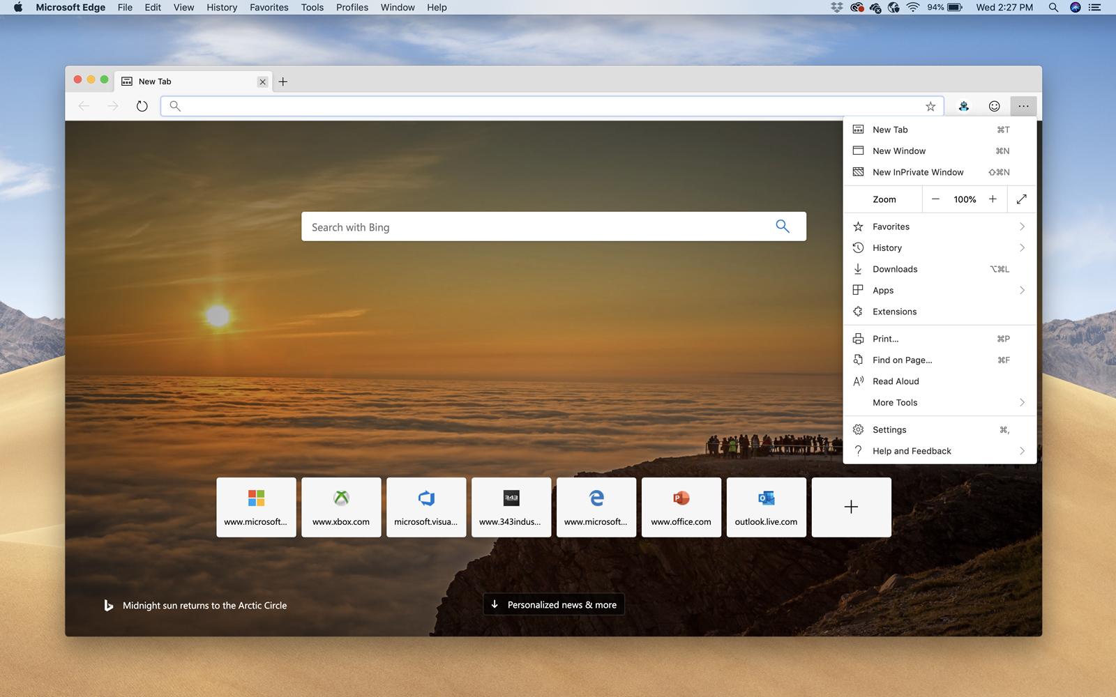 Microsoft Edge gibt es jetzt auch für den Mac