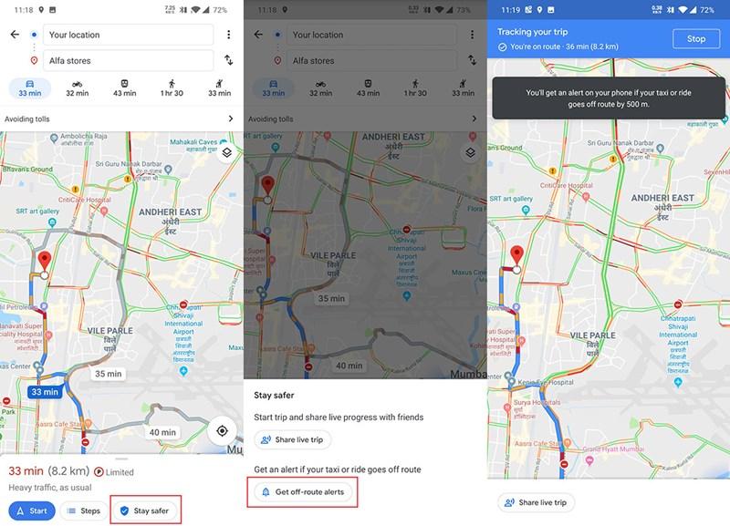 Google Maps warnt, wenn Taxler von der Route abweichen ... on