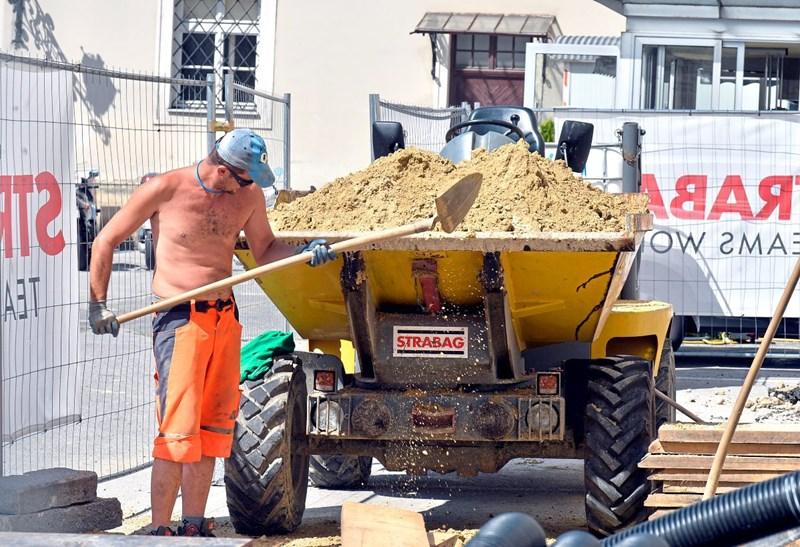 Baubranche unterschätzen die Gefahren von Hitze