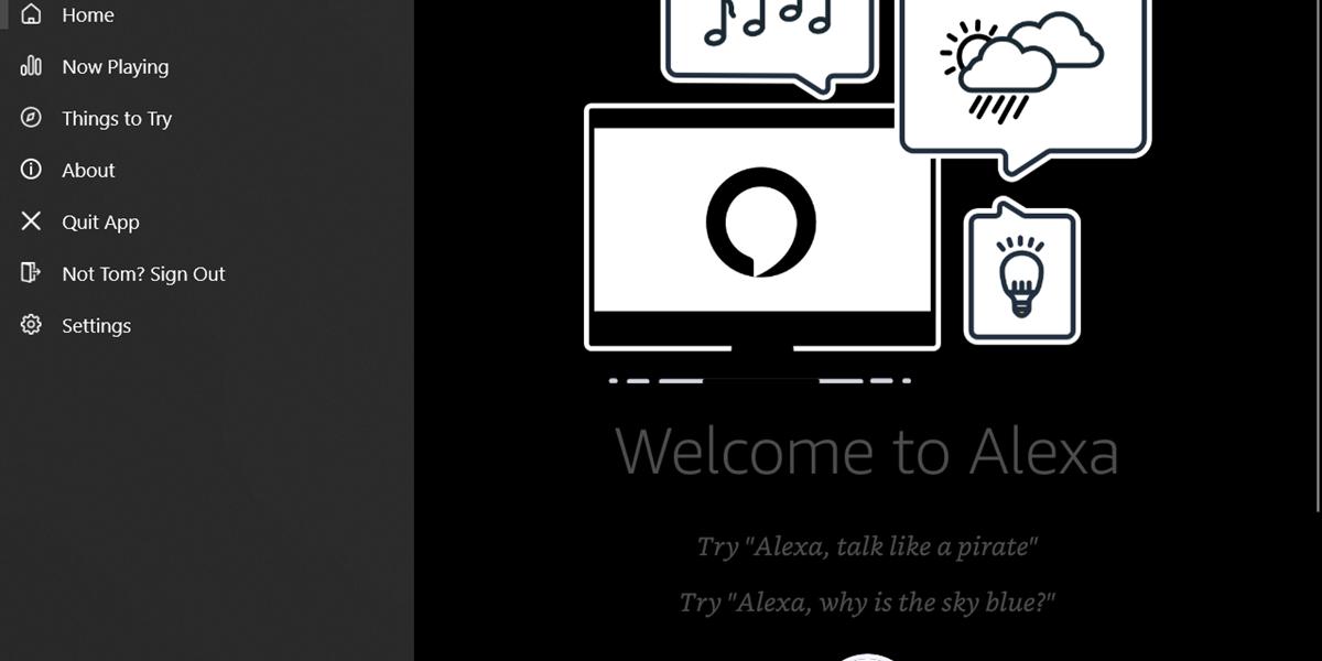 Windows 10 öffnet sich für Alexa