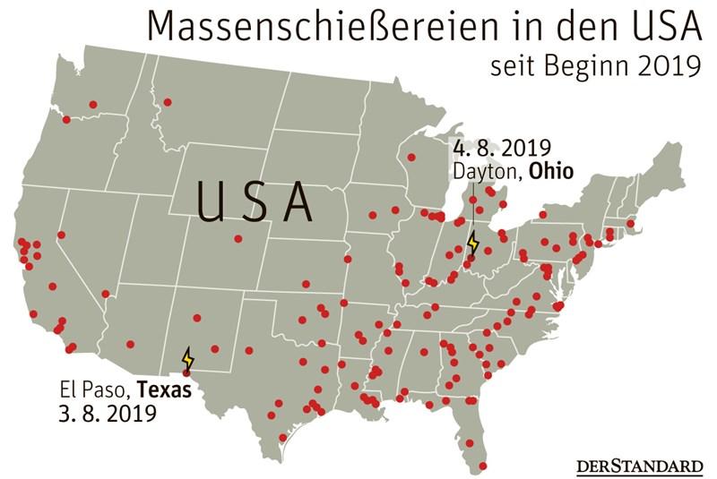 Zwei Massaker in den USA innerhalb von 24 Stunden - USA ...