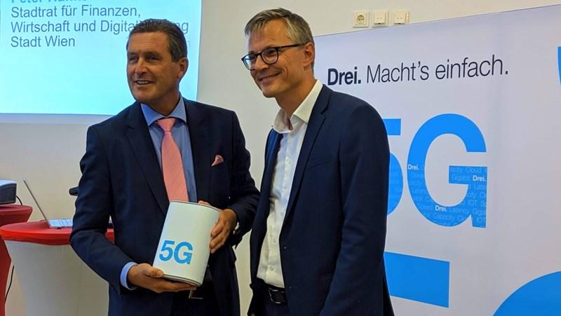 """""""3"""" startet Echtbetrieb von 5G in Wien"""