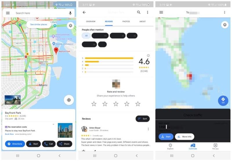 Google Maps: So sieht die Karten-App im Dark Modus aus