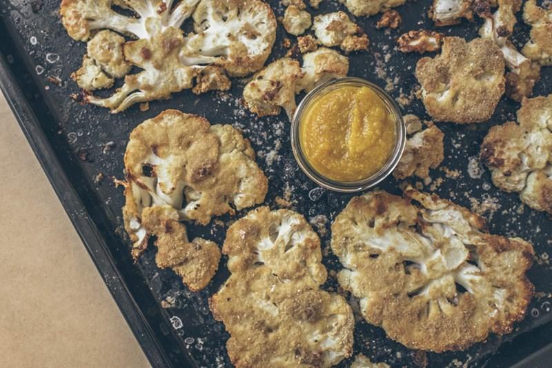 Karfiolsteaks mit Birnendip: Schmackhafte Schnitzel ohne Fleisch