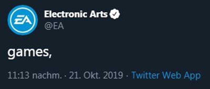 Netz spottet über misslungenen Tweet von Electronic Arts