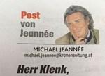 Jeannée über Klenk: Ein verbaler Misthaufen