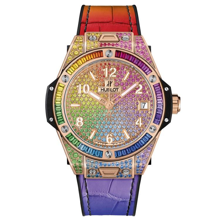 Farbenfrohe Uhren: ... und Bunt