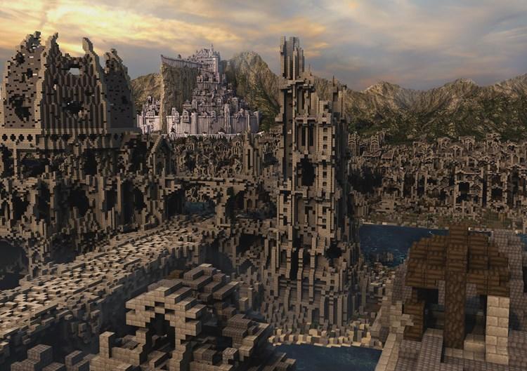 """""""Minecraft""""-Spieler bauen Tolkiens Mittelerde von """"Herr der Ringe"""" nach"""