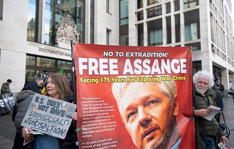 Journalistenvereine fordern Freilassung von Wikileaks-Gründer Assange