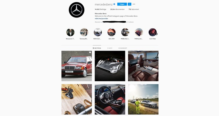 Mercedes Benz Gehackt Instagram