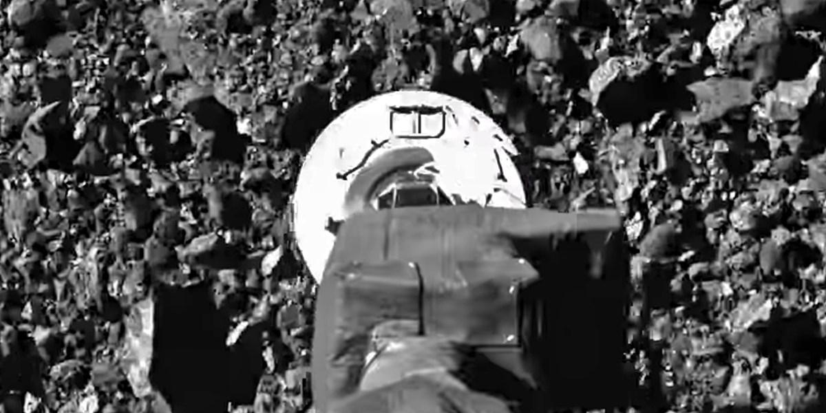 Spektakuläre Aufnahmen zeigen Nasa-Sonde beim Sammeln von Asteroidenmaterial