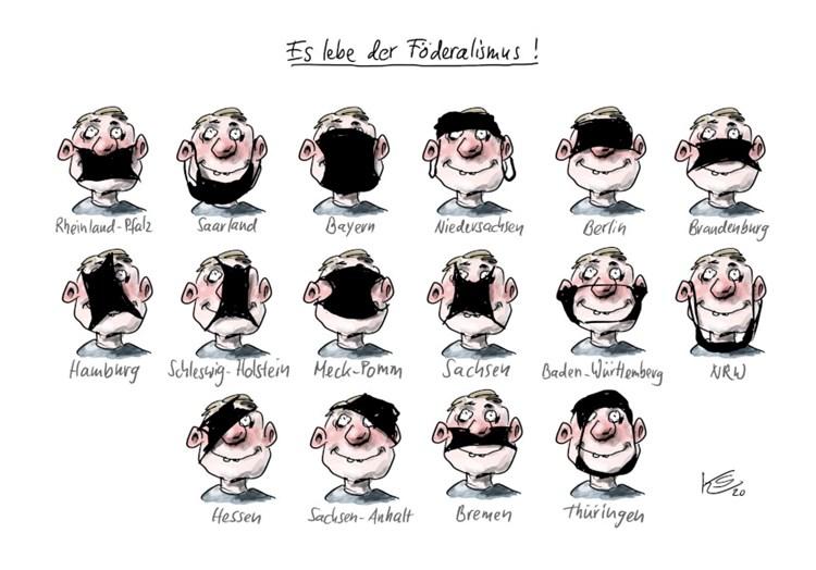 """Karikaturenpreis der deutschen Zeitungen"""" für Lockdown-Karikatur -  Medienpreise - derStandard.de › Kultur"""