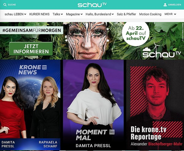 Foto: Schau TV Krone TV Screenshots