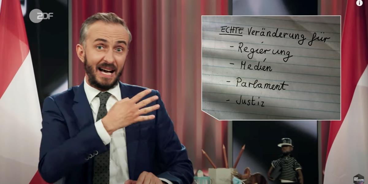 Böhmermann-Video über Kurz: Internet spottet mit