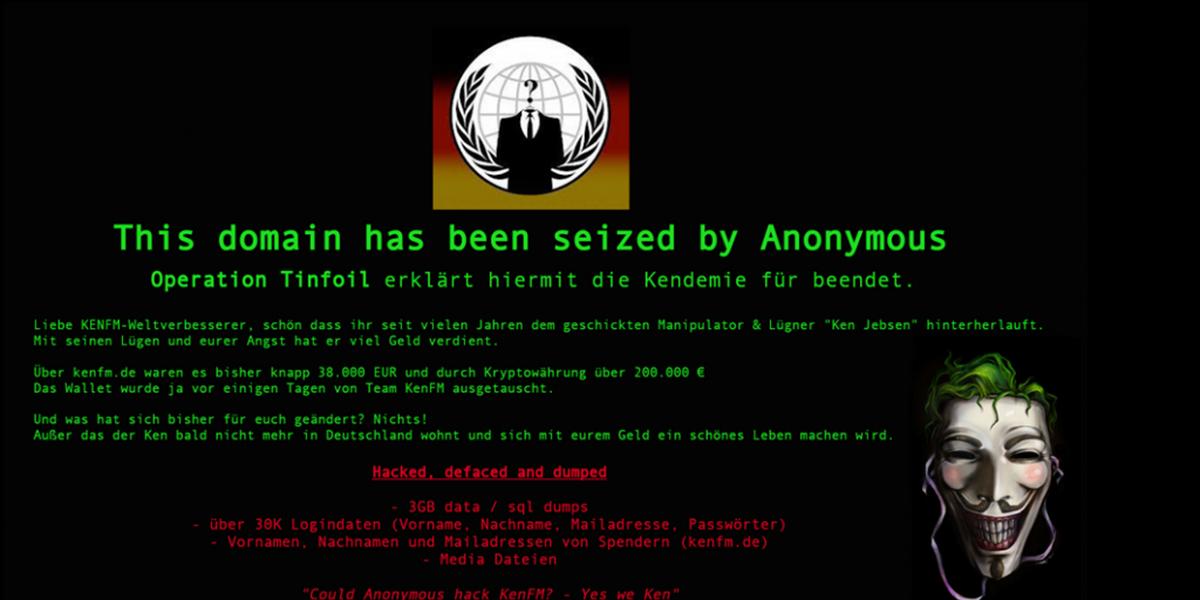 Anonymous knackt die Homepage von Verschwörungserzähler Ken Jebsen